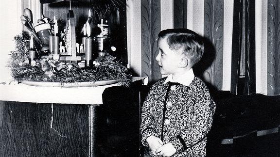 Fotografie Weihnachten 1964. Ausstellung Weihnachtszauber im Museum für Thüringer Volkskunde in Erfurt.