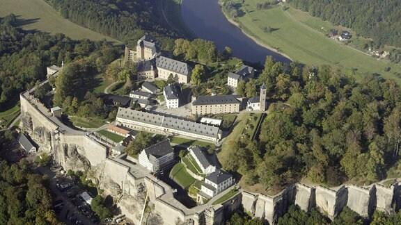 Festung Königstein (Luftbild)