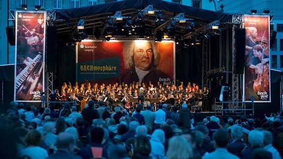 Bachfest Leipzig - Bachmosphäre auf dem Marktplatz Leipzig