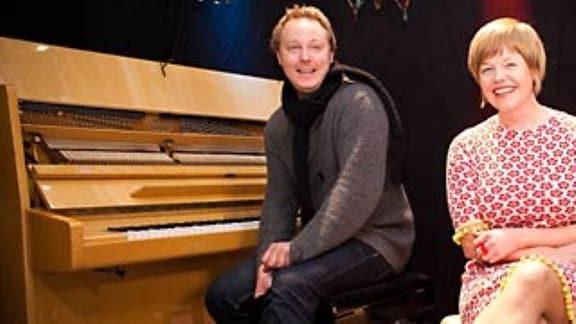 Im FIGARO-Studio: Randi Tytingvåg mit Anders Aarum, Piano und Espen Leite, Akkordeon