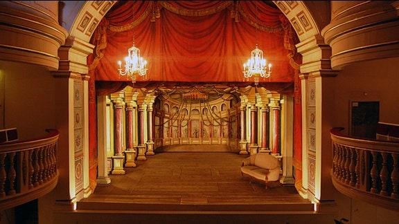 Blick auf die Bühne des Ekhof Theaters/Foto: Marco Karthe