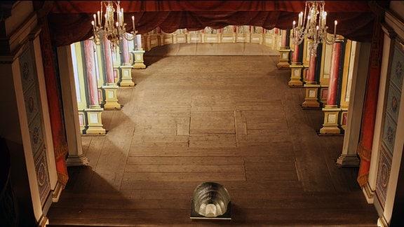 Der Bühnenboden im Ekhof-Theater/Foto: Adrian Leeder