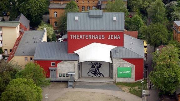 Luftaufnahme des Theaterhaus in Jena