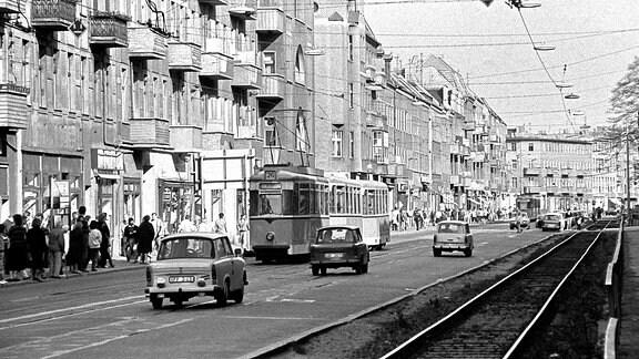 Verkehr in der Wilhelminenhofstrasse in Berlin
