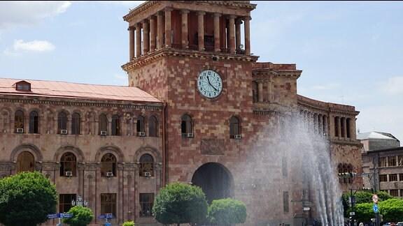 Armenien - Jerewan, Platz der Republik Postgebäude