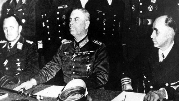 Zweiter Weltkrieg - Bedingungslose Kapitulation der Wehrmacht-Führung am 9. Mai 1945 in Berlin-Karlshorst