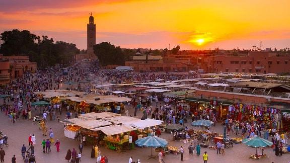 Ein Markt in Marrakesch