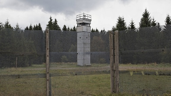 Grenzbeobachtungsturm BT-11 im Grenzmuseum in Sorge am Harzer Grenzweg an der ehemaligen innerdeutschen Grenze