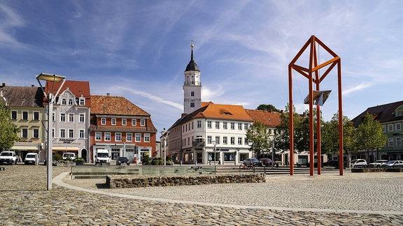 Der Marktplatz von Bischofswerda