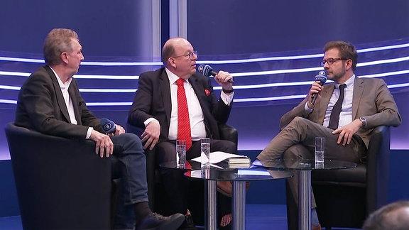 Helge Malchow, Denis Scheck und Florian Illies
