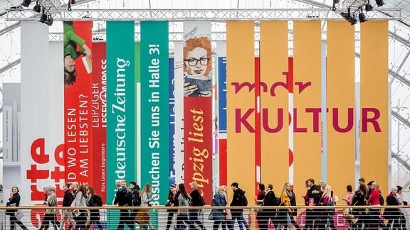Ein Foto von der Leipziger Buchmesse am 16.03.2018 in der neuen Messe Leipzig.