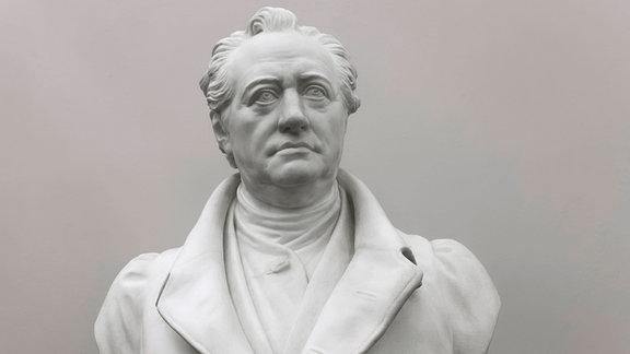 Johann Wolfgang von Goethe, Büste von Carl Rumpf, 1896