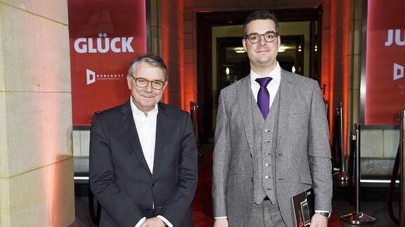 Ulrich Khuon und Marc Grandmontagne beim Deutschen Theaterpreis