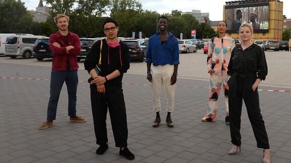 Albrecht Schuch, Burhan Qurbani, Welket Bungu , Annabelle Mandeng und Jella Haase