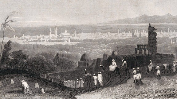 Carsten Niebuhr, Illustration einer Karawane, 1841