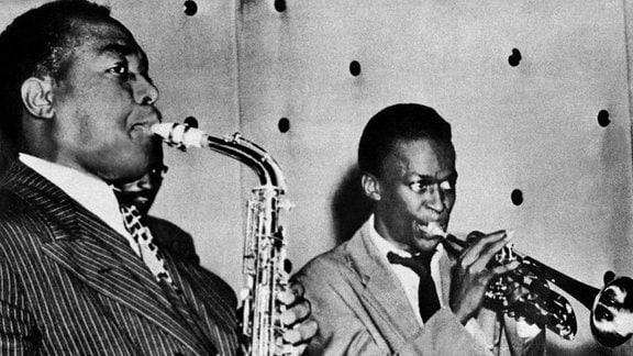 Charlie Parker und Miles Davis
