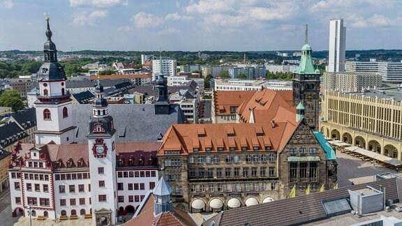 Altes und Neues Rathaus in Chemnitz