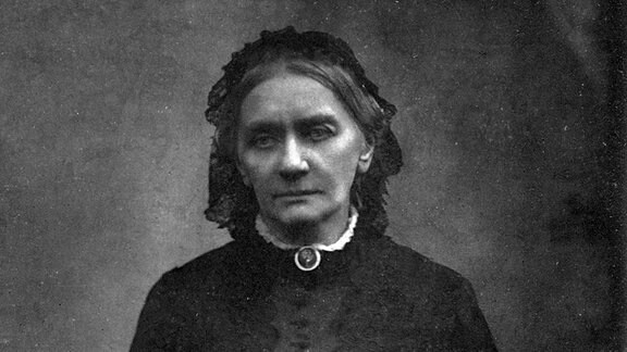 Portrait Clara Schumann (1819 - 1896), deutsche Pianistin und Komponistin.