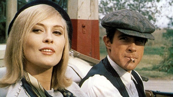 Faye Dunaway und Warren Beatty als Bonnie and Clyde, 1967