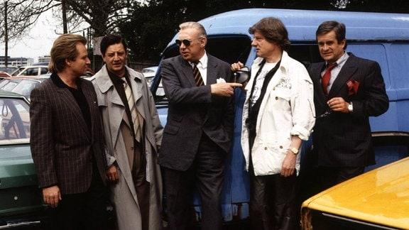 Dietrich Haugk, Fritz Wepper, Hans Burners, Horst Tappert, Herbert Bötticher und Frank Hoffmann.
