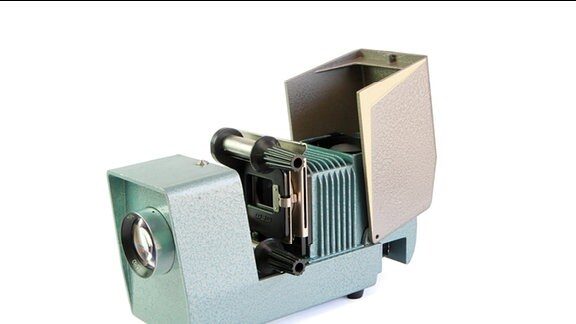 Diapositiv - Diaprojektor mit Filmhalter