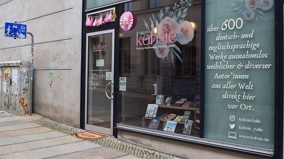Außenansicht Diversity-Buchhandlung kohsie in Halle