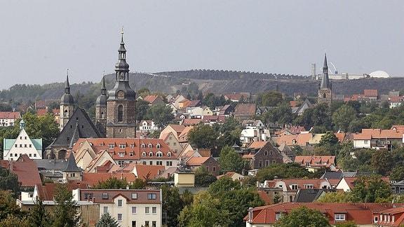 Blick auf die Lutherstadt Eisleben (Sachsen-Anhalt)