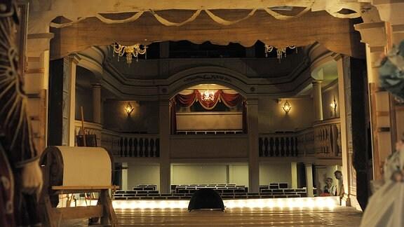 Der Theatersaal.