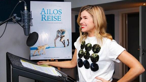 Anke Engelke als Sprecherin für den Film 'Ailos Reise'.