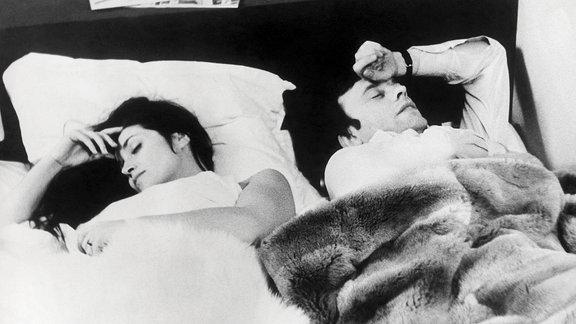 """Filmszene: """"Meine Nacht bei Maud"""" mit Eric Rohmer Françoise Fabian (Maud) und Jean-Louis Trintignant (Jean-Louis), 1969"""