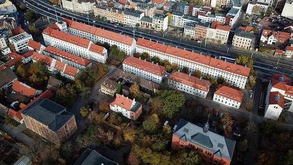 Franckesche Stiftungen Luftaufnahme