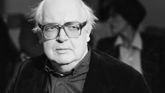 Der Schweizer Autor und Dramatiker Friedrich Durrenmatt,  Paris 1985