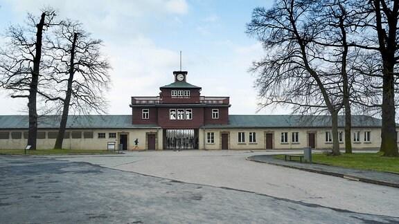 Eingang zur Gedenkstätte Buchenwald.