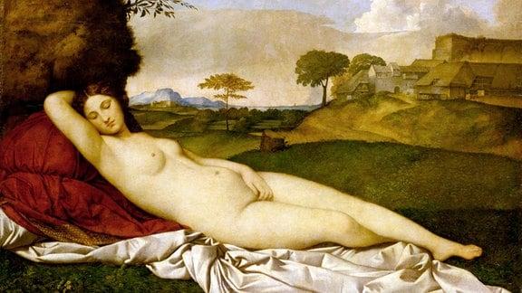 Giorgione, Schlummernde Venus, um 1508-1510