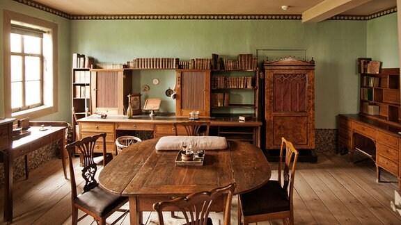 Historische Möbel in Goethes Arbeitszimmer