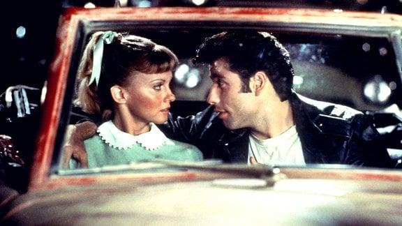 Olivia Newton-John und John Travolta in Grease