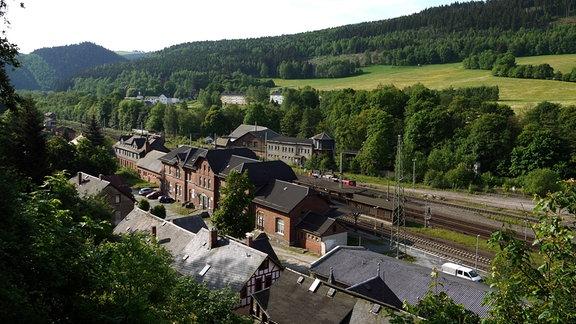 Bahnhof von Probstzella an der ehemaligen innerdeutschen Grenze