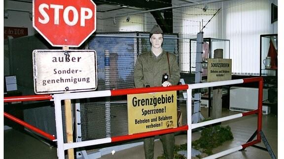 Blick in die Ausstellung im Grenzmuseum Gräfenthal