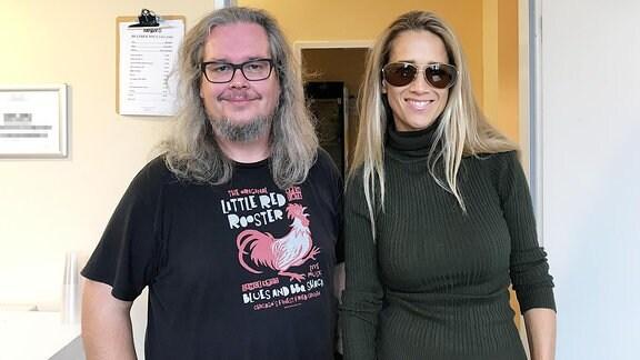 Heather Nova mit MDR KULTUR-Musikredakteur Jan Kubon.