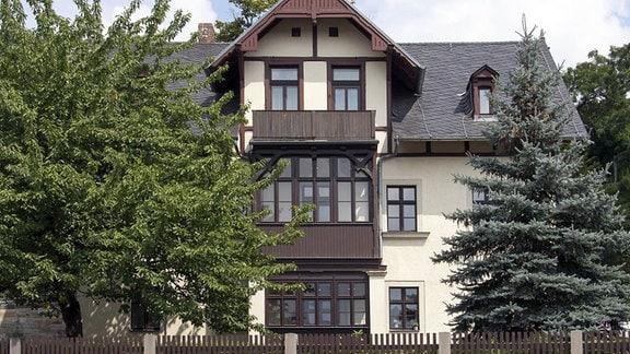 Außenansicht des Wohnhauses von Josef Hegenbarth