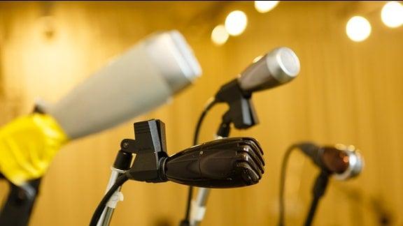 Aufnahme eines Studiodetails aus dem Hörspielstudio Halle des Mitteldeutschen Rundfunks