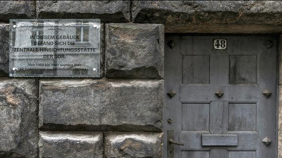 Dreharbeiten in der ehemaligen Hinrichtungsstätte in der Alfred-Kästner-Strasse in Leipzig