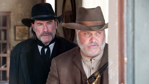 John Travolta and Tommy Nohilly star in In A Valley Of Violence