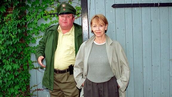 Jutta Hoffmann als Kommissarin in der Fernsehserie Polizeiruf 110