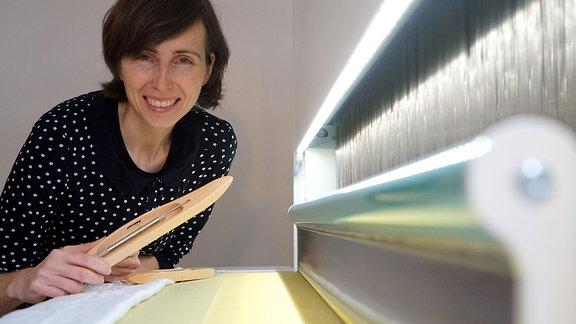 Die Textilgestalterin Katharina Jebsen