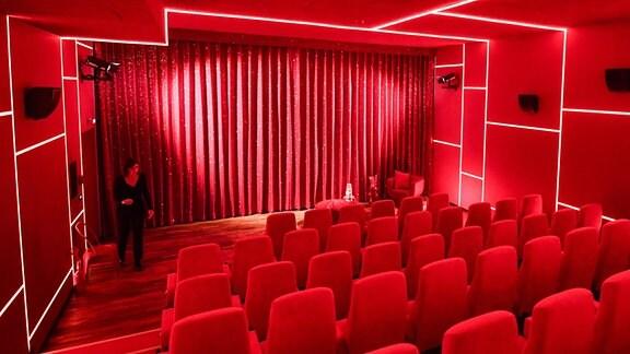 Einer der neuen Kinosäle vom Kino delphi Lux