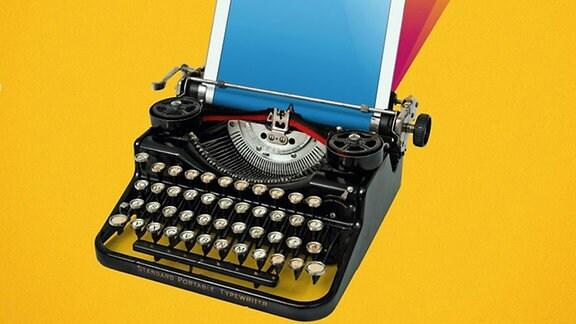 Kultur Newsletter Schreibmaschine Tablet