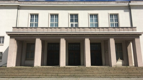 Kulturpalast Bitterfeld heute, Außenansicht
