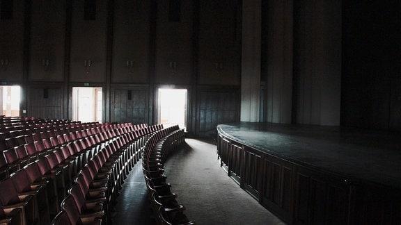 Kulturpalast Bitterfeld heute, Innenansicht