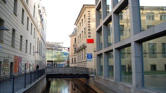 Die Kunsthalle an einem der ältesten Sparkassenstandorte in Leipzig - Otto-Schill-Straße.